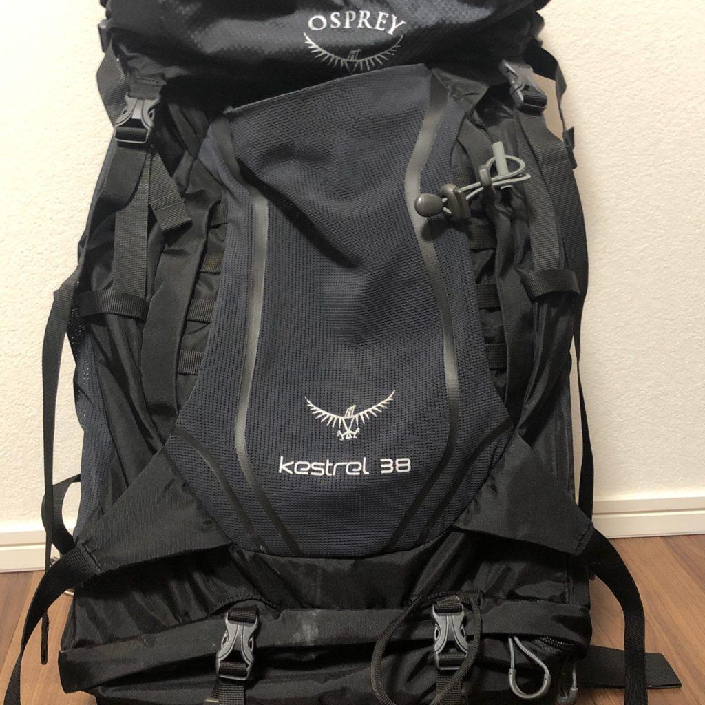 【ギア】Osprey kestrel38を徹底レビュー!優秀なアタッチメントの使い方も紹介!
