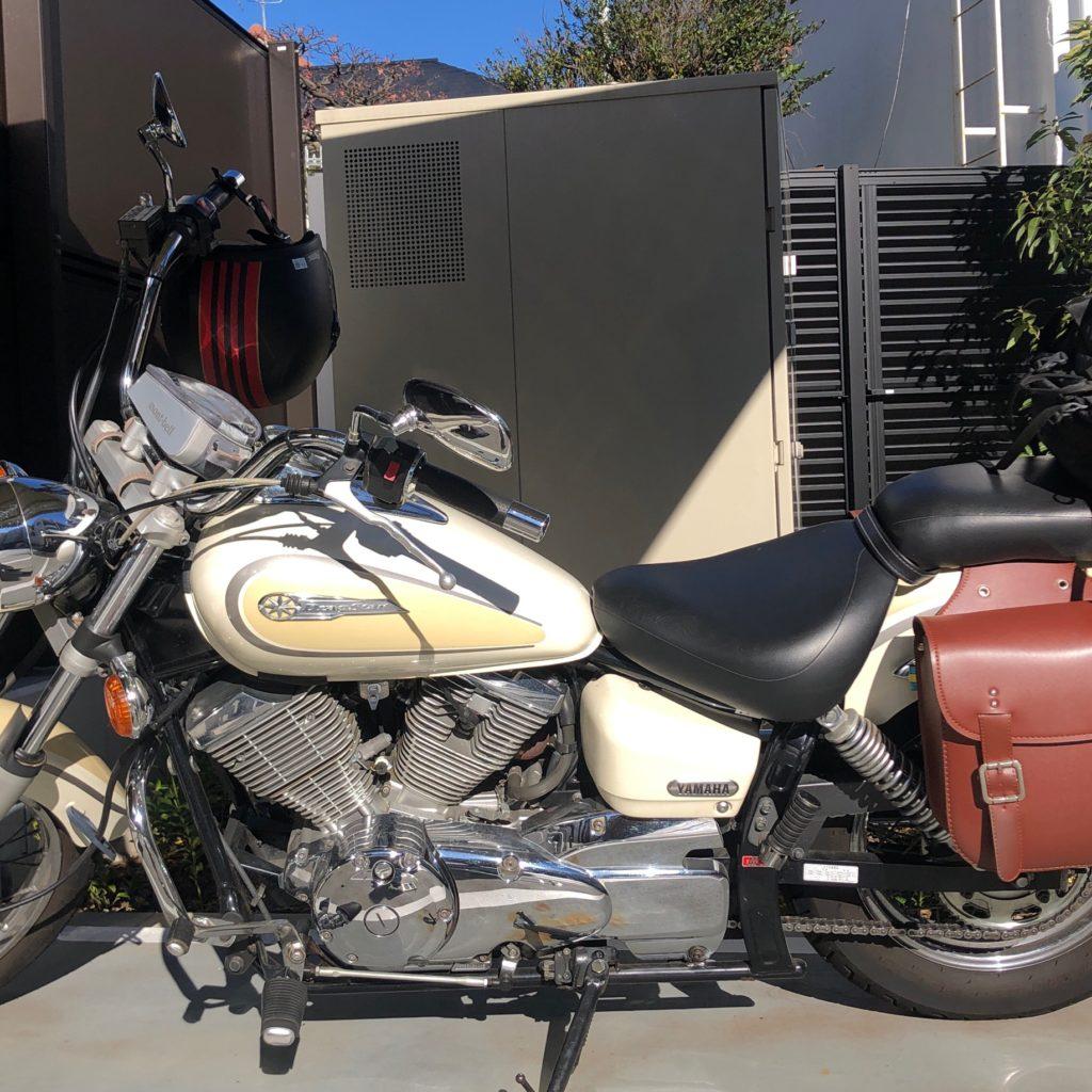 【バイクカスタム】キャンプ用にドラッグスター250にシーシーバーを取り付けたので写真付きで解説する
